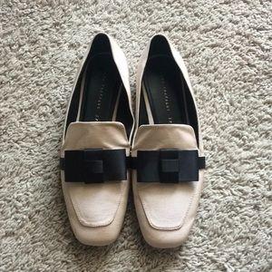 Zara Trafaluc bow loafer shoes